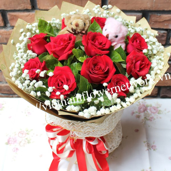 red roses is the best valentines day flowers in vietnam